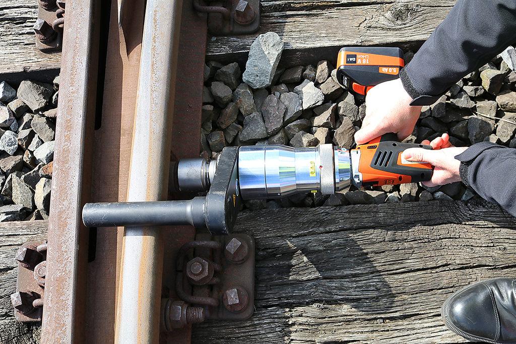 Rail track bolting